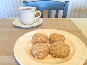 Chai Tea Mini Biscuits with Coffee