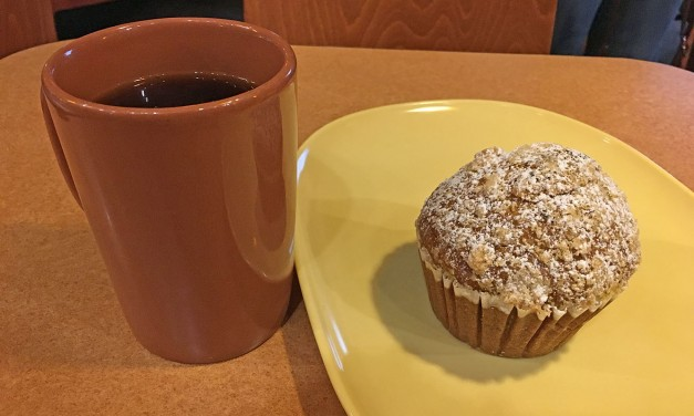 Panera Bread Pumpkin Muffin & Hazelnut Coffee