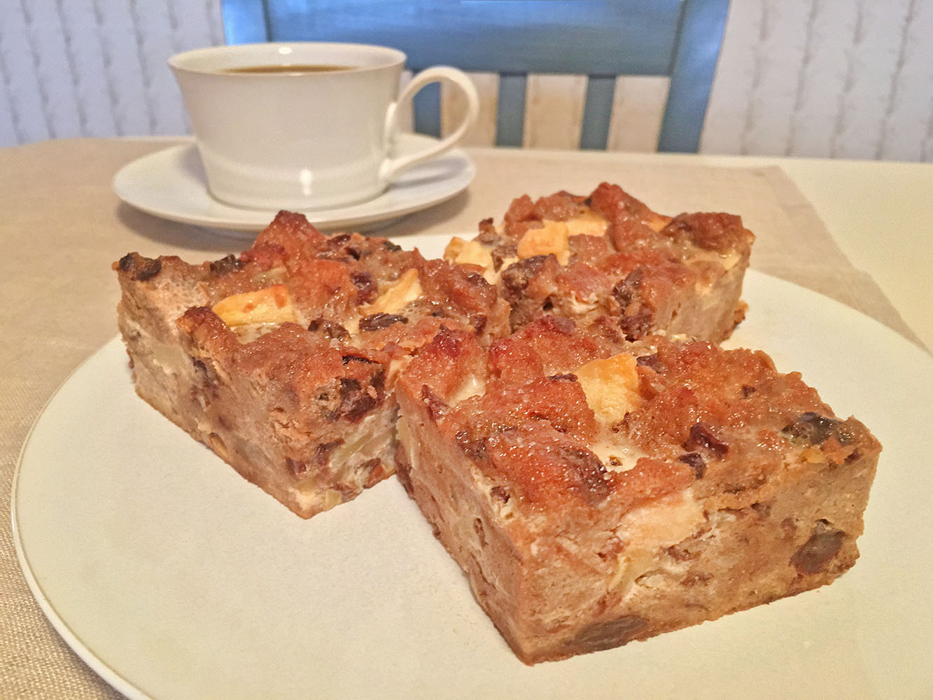Apple Bread Pudding with Coffee