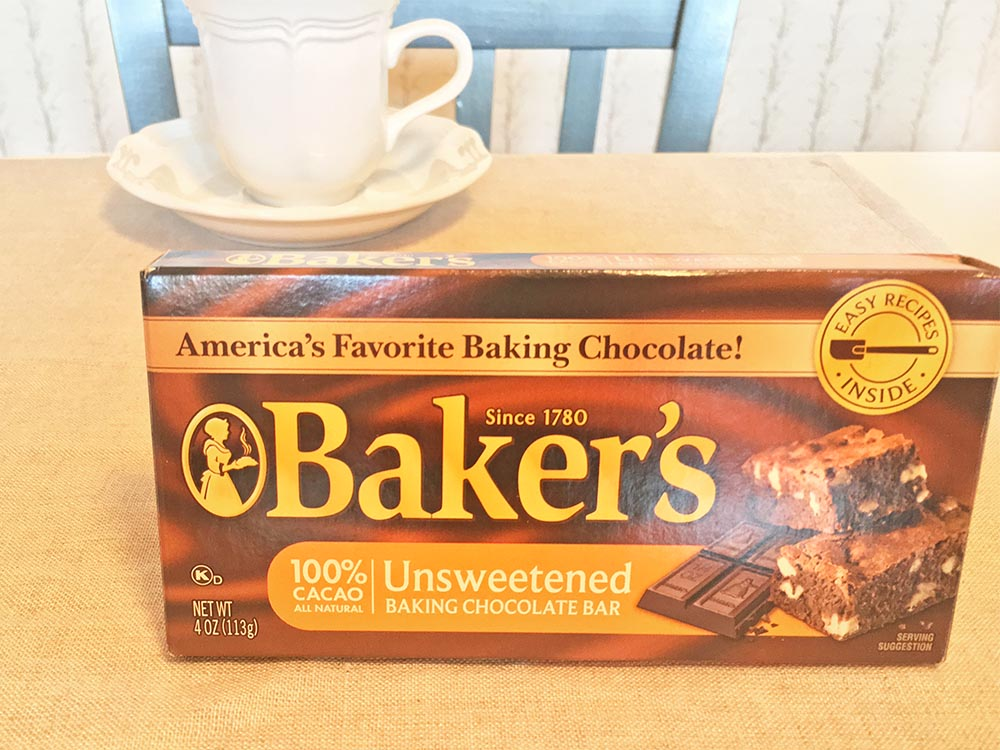 Bakers Unsweetened Chocolate Bar