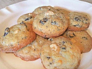Chocolate Creme and White Chocolate Chip Cookies