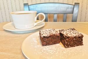 Chocolate Gingerbread Bars with Coffee