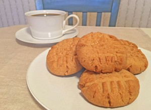 Crunchy Peanut Butter Cookies with Coffee