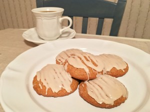Iced Pumpkin Cookies with Coffee