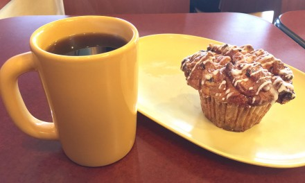 Panera Bread Cobblestone Muffin & Coffee