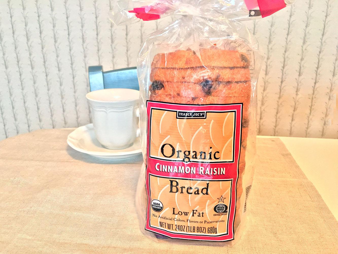 Trader Joes Organic Cinnamon Bread
