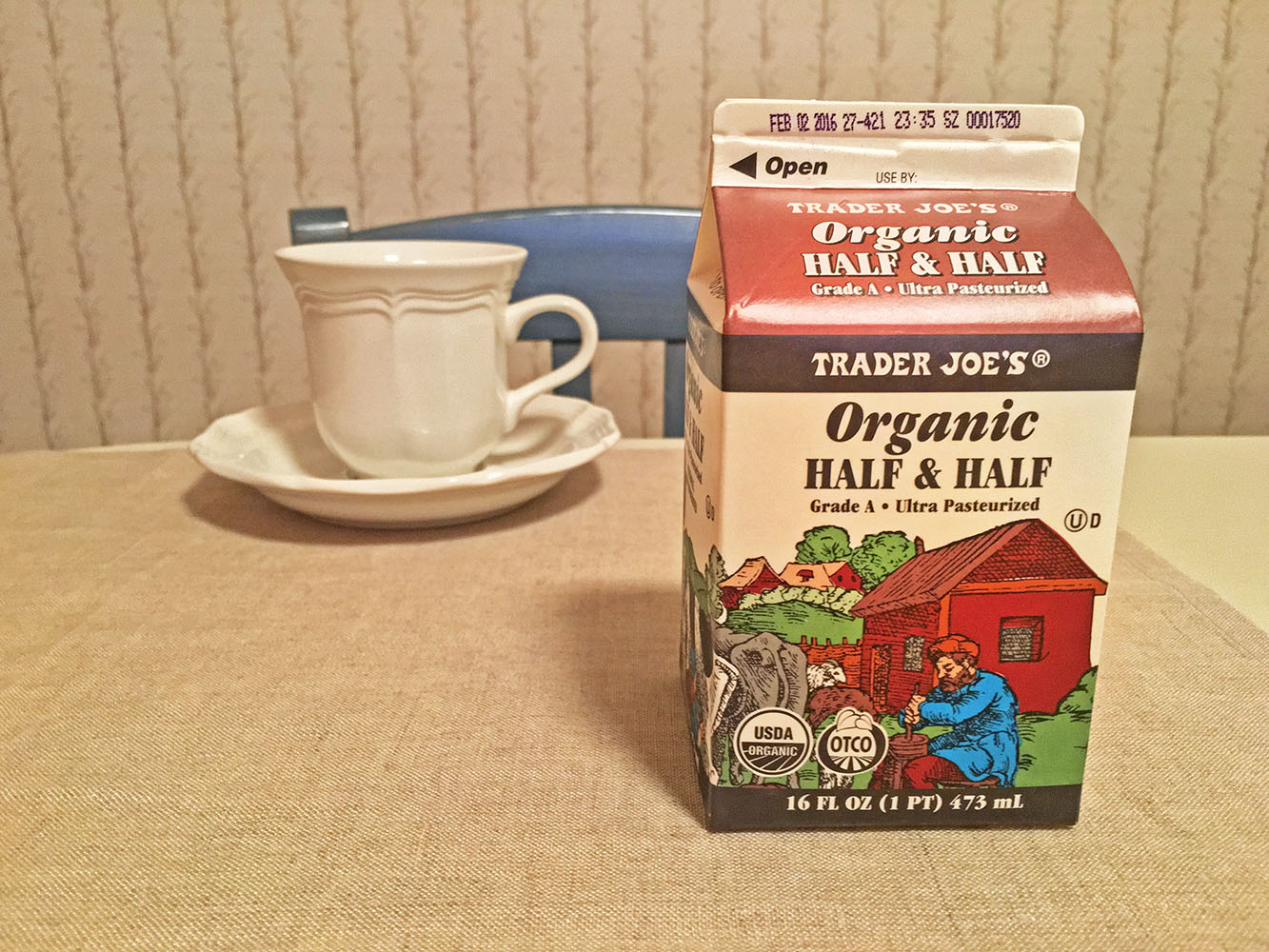Trader Joes Organic Half & Half