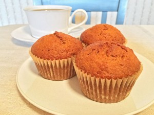 Agave-Sweetened Carrot Muffins and Coffee