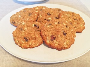 Apple-Oatmeal Cookies on Plate
