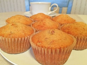 Banana Nut Muffins with Coffee