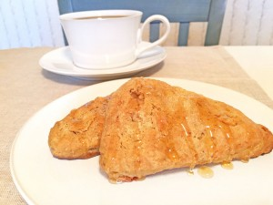 Pumpkin Scones with Coffee