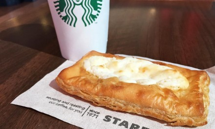 Starbucks Cheese Danish and Coffee