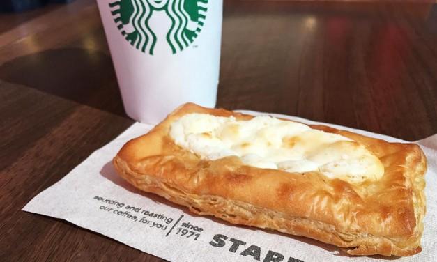 Starbucks Cheese Danish and Coffee