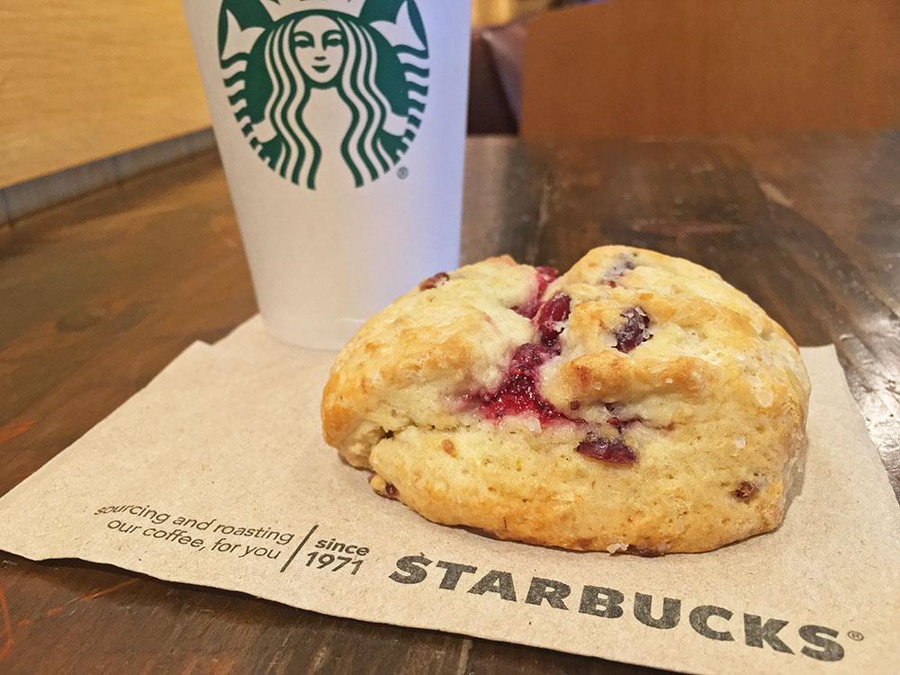 Starbucks Cranberry Orange Scone And Coffee 5 O Clock