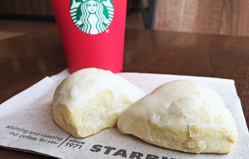 Starbucks Petite Vanilla Bean Scone and Coffee