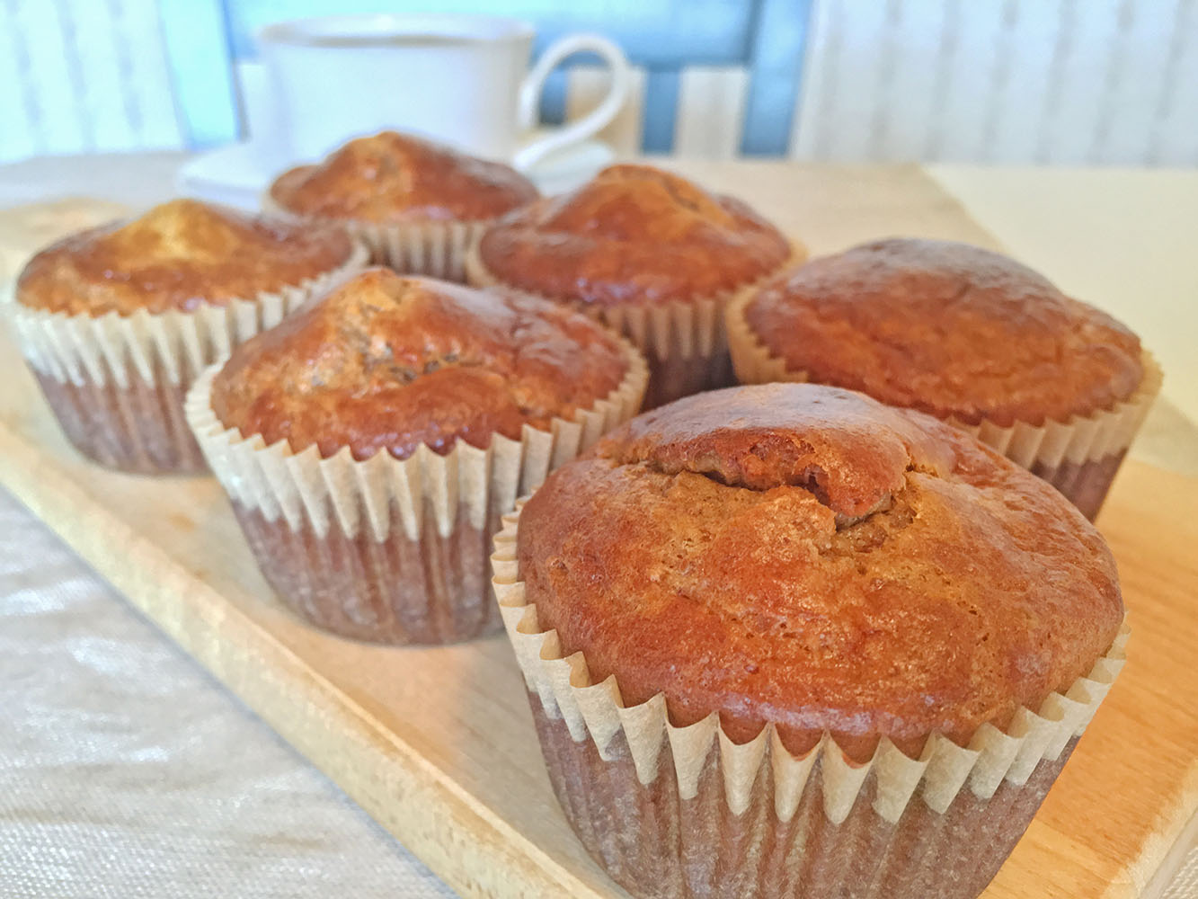 5 Ingredient Banana Almond Butter Muffins