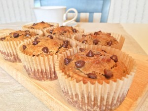 5 Ingredient Peanut Butter Banana Muffins