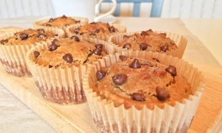 5 Ingredient Peanut Butter Banana Muffins
