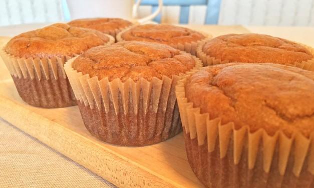 Flourless Almond Butter Pumpkin Muffins