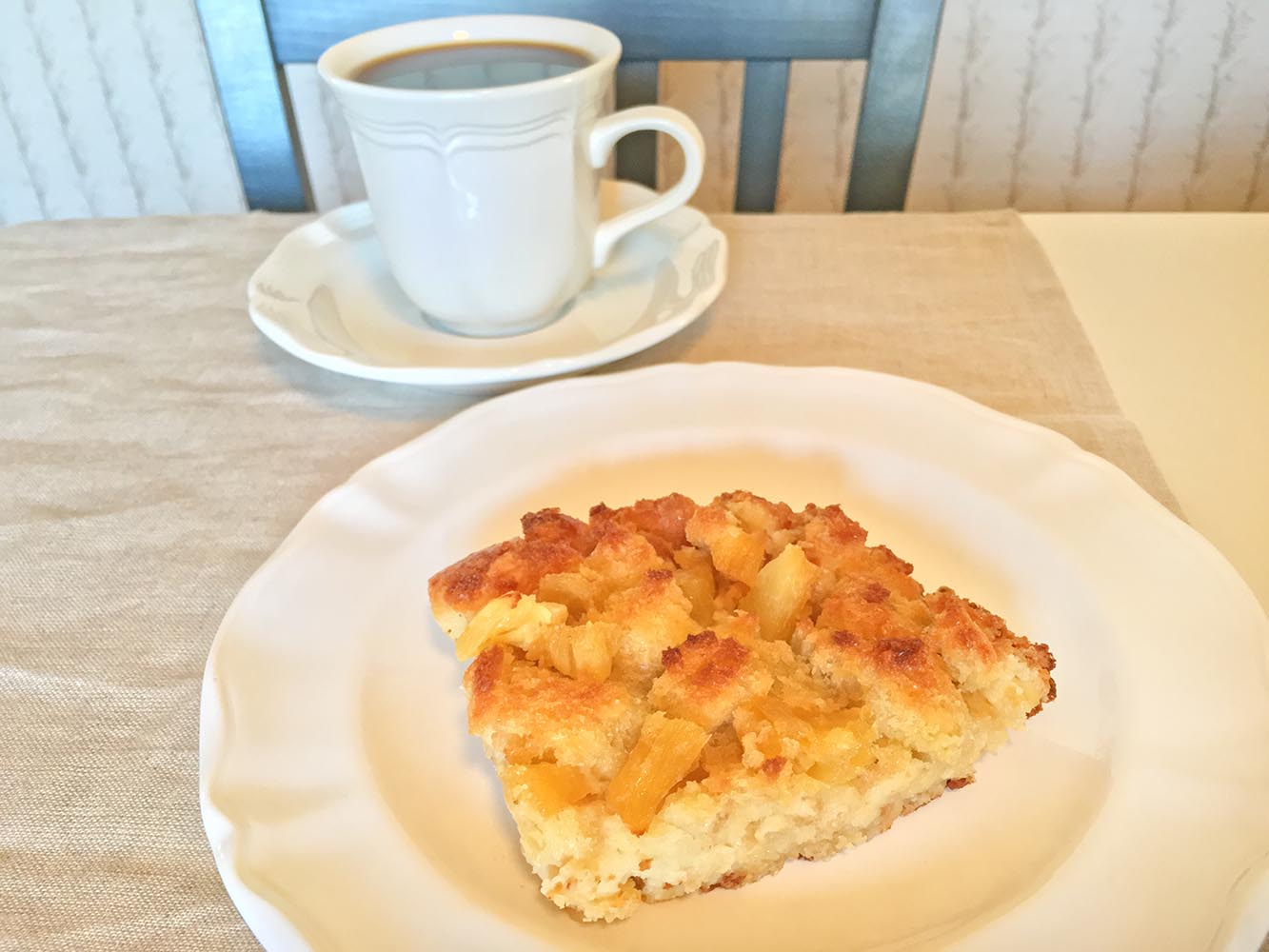 Pineapple Bread Pudding with Coffee
