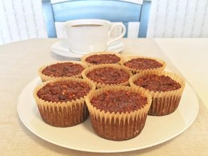 Flourless Morning Glory Muffins with Coffee