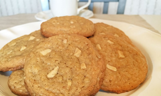 Peanut Butter Oatmeal White Chocolate Cookies
