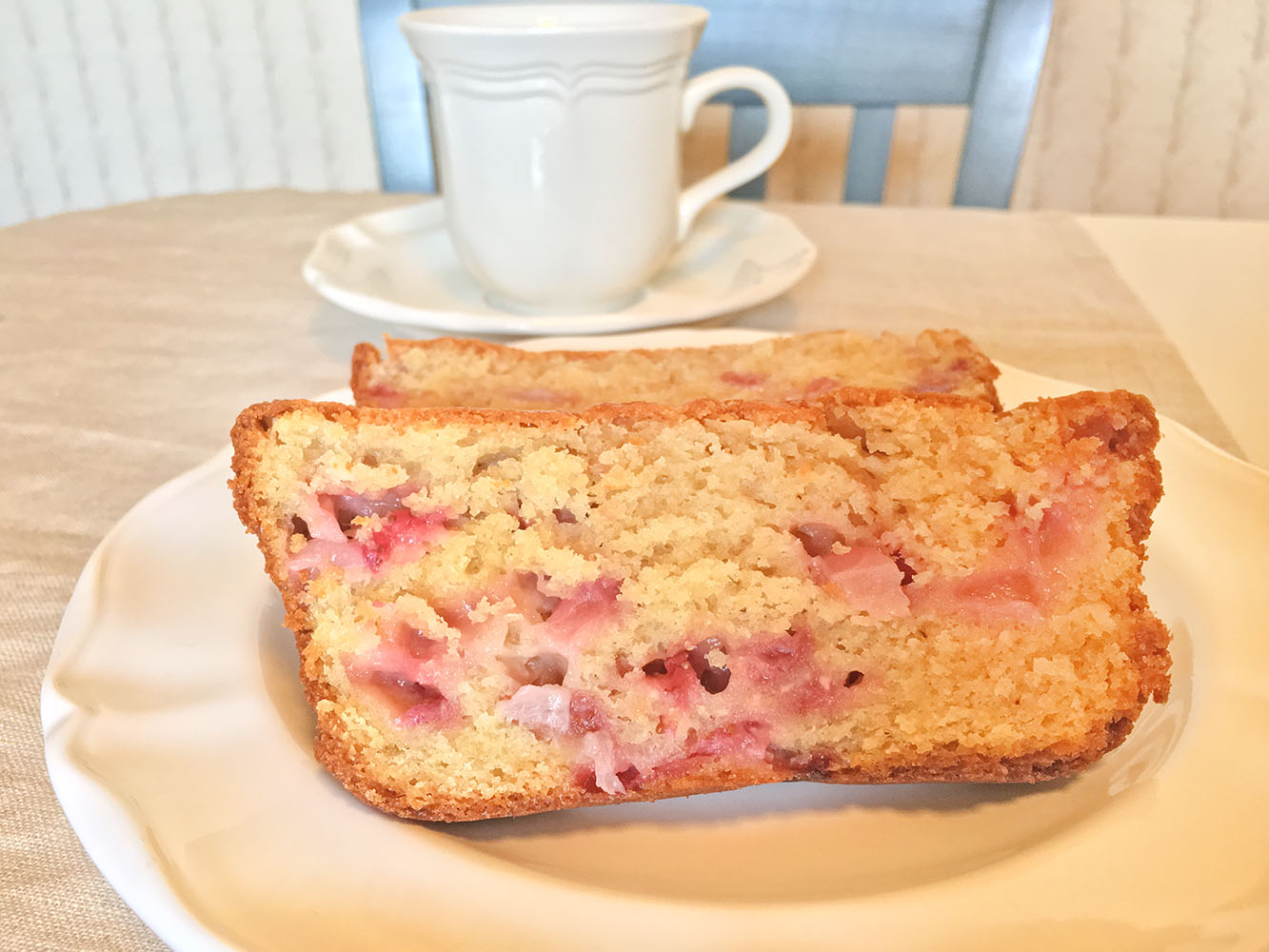 Strawberry Cream Cheese Bread with Coffee