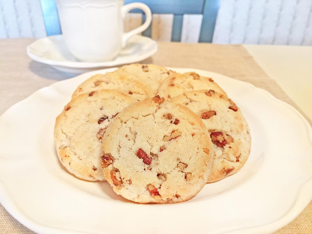 Pamela's Pecan Shortbread Cookies with Coffee