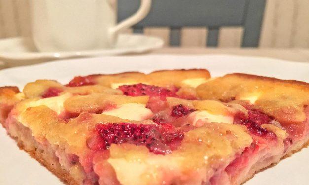 Strawberry Cream Cheese Cobbler