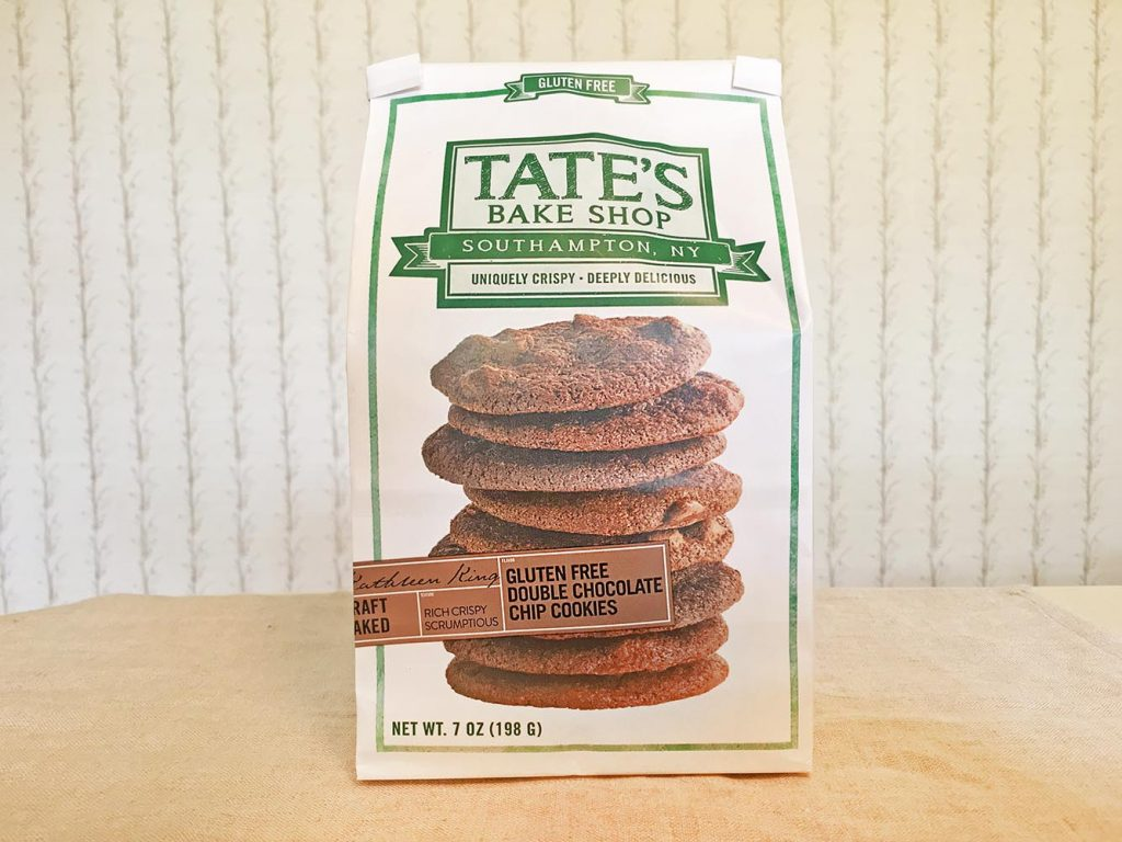 Tate's Gluten Free Double Chocolate Chip Cookies Box