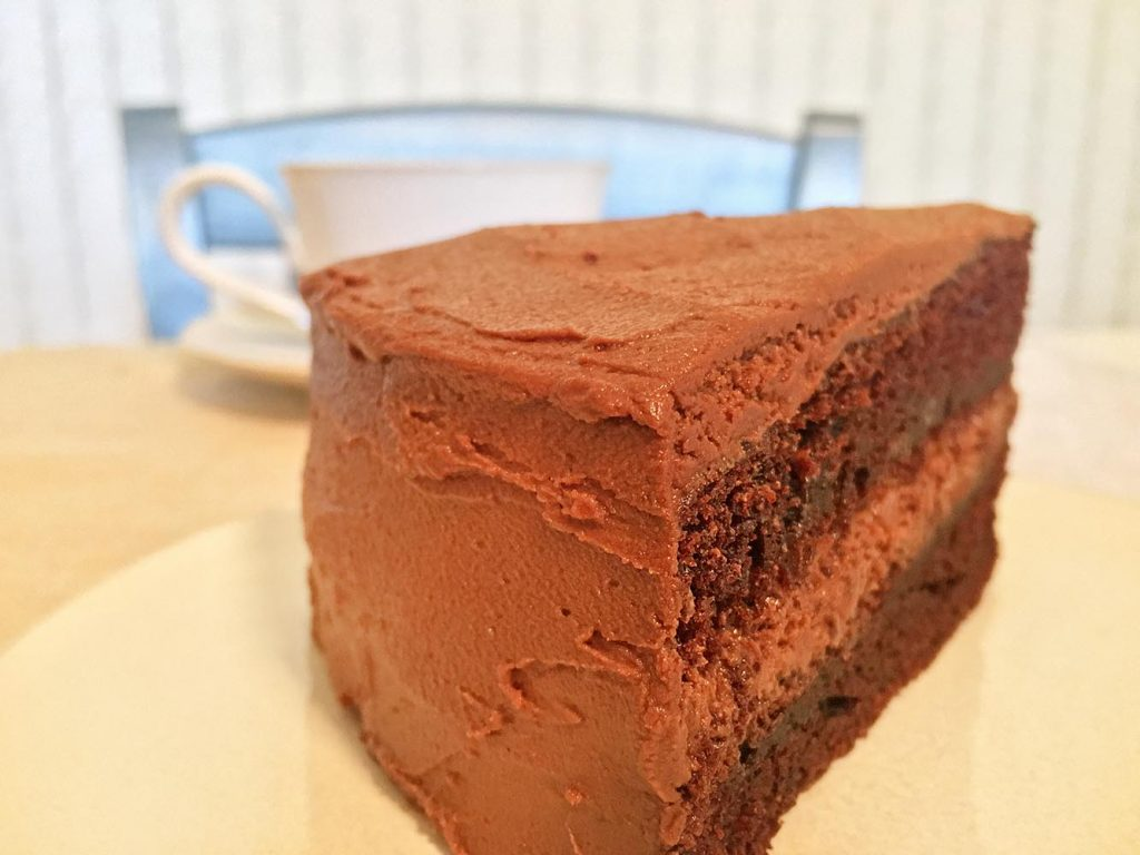 Double Chocolate Layer Cake Slice