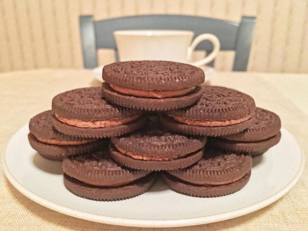 Newman-O's Chocolate Creme Cookie Tower