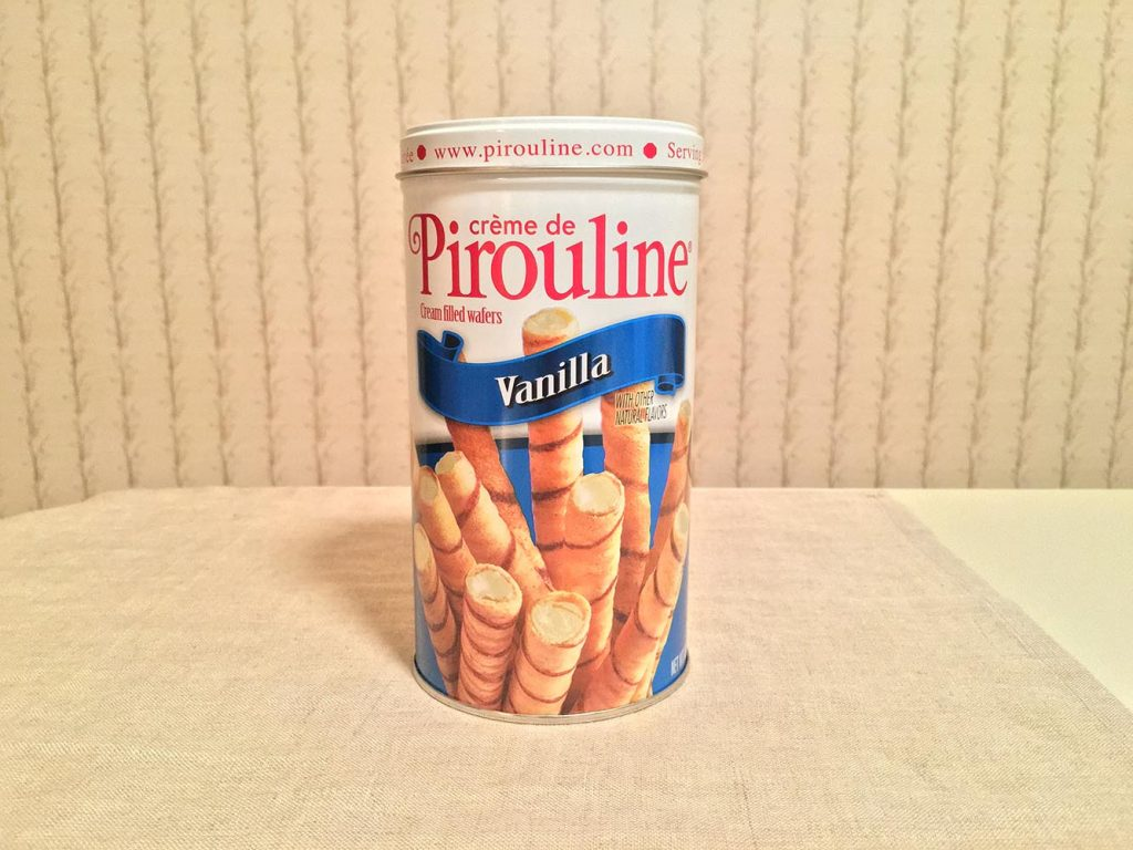 Pirouline Vanilla Wafers Can