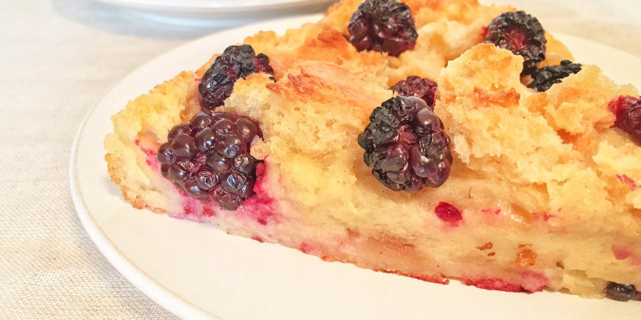 Blackberry Bread Pudding