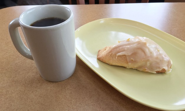 Panera Bread Scone & Hazelnut Coffee