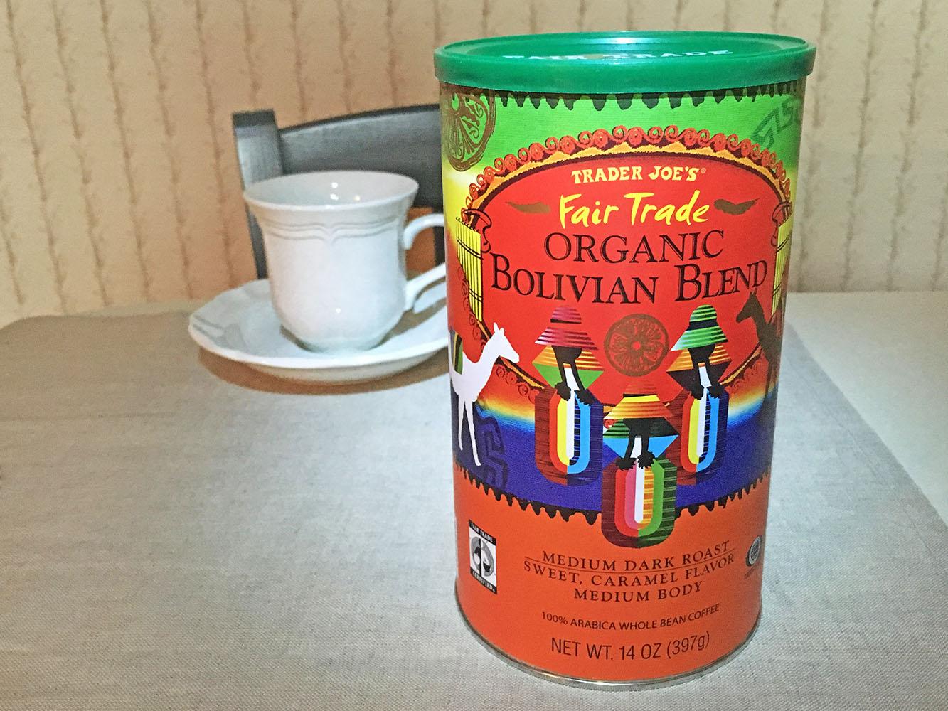 Trader Joes Fair Trade Organic Bolivian Blend