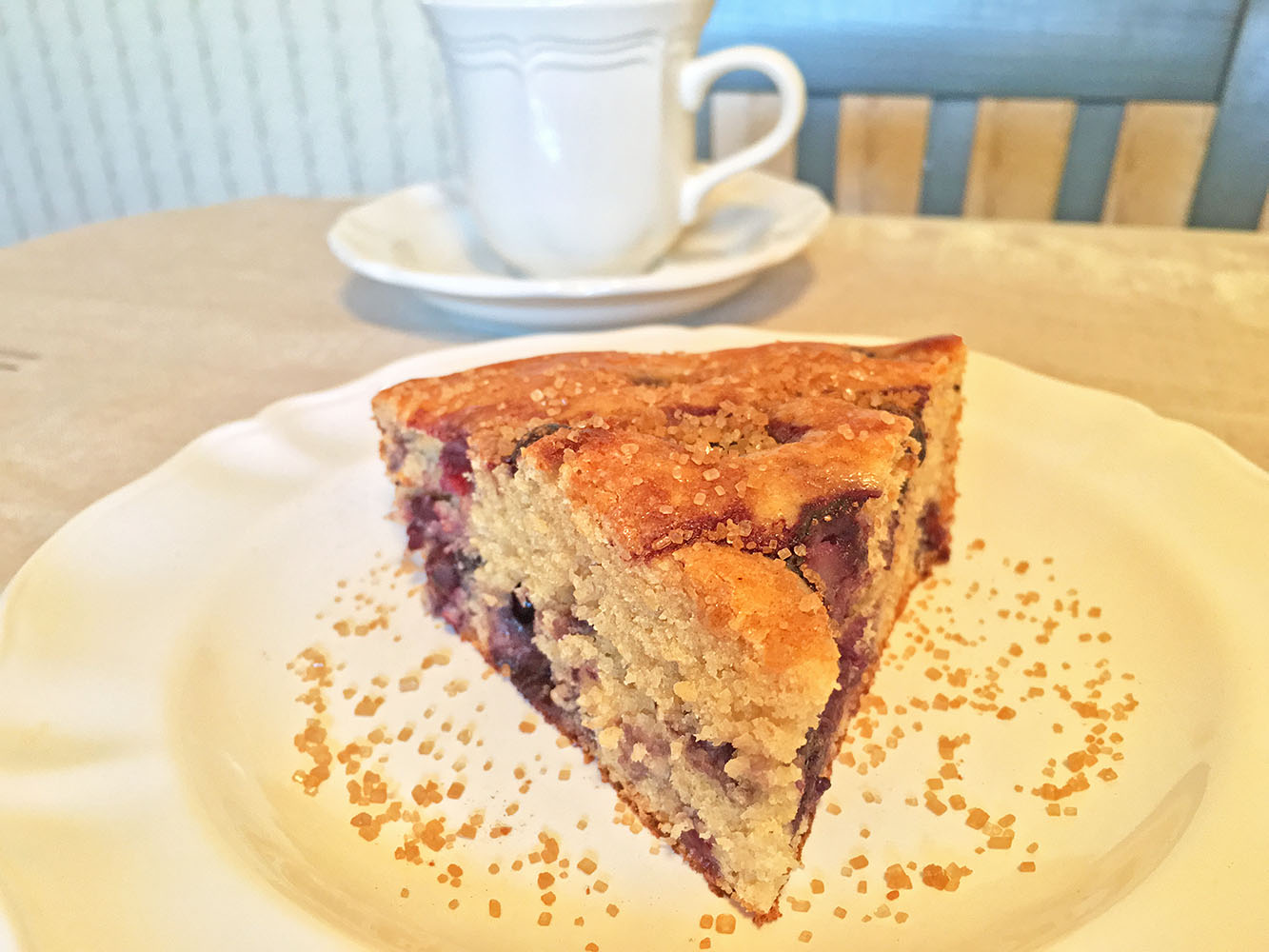Blueberry Coffee Cake Slice