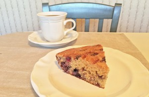 Blueberry Coffee Cake with Cafe