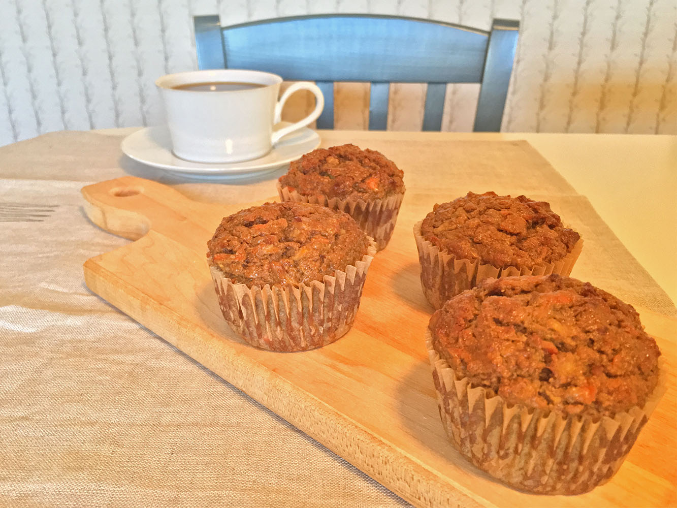 Carrot-Zucchini Yogurt Muffin