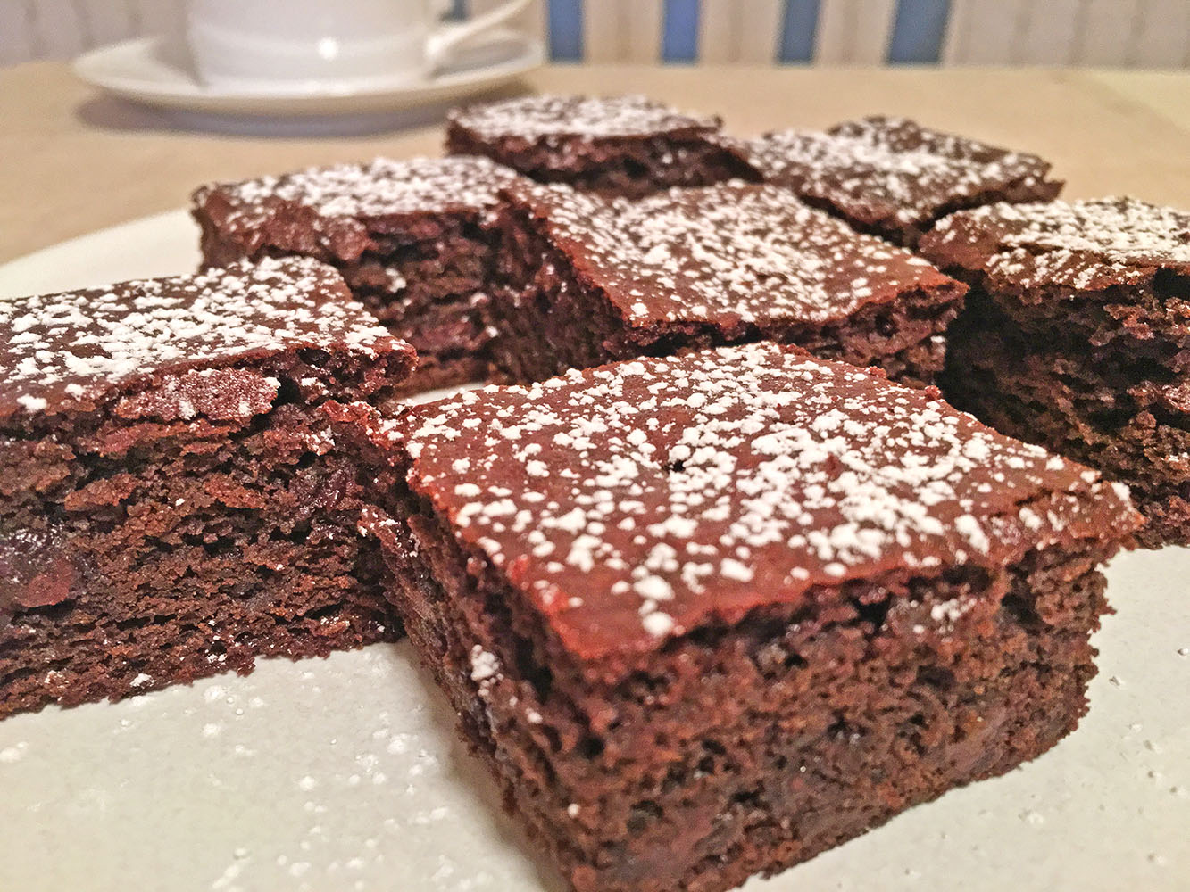 Chocolate Gingerbread Bars with Frosting