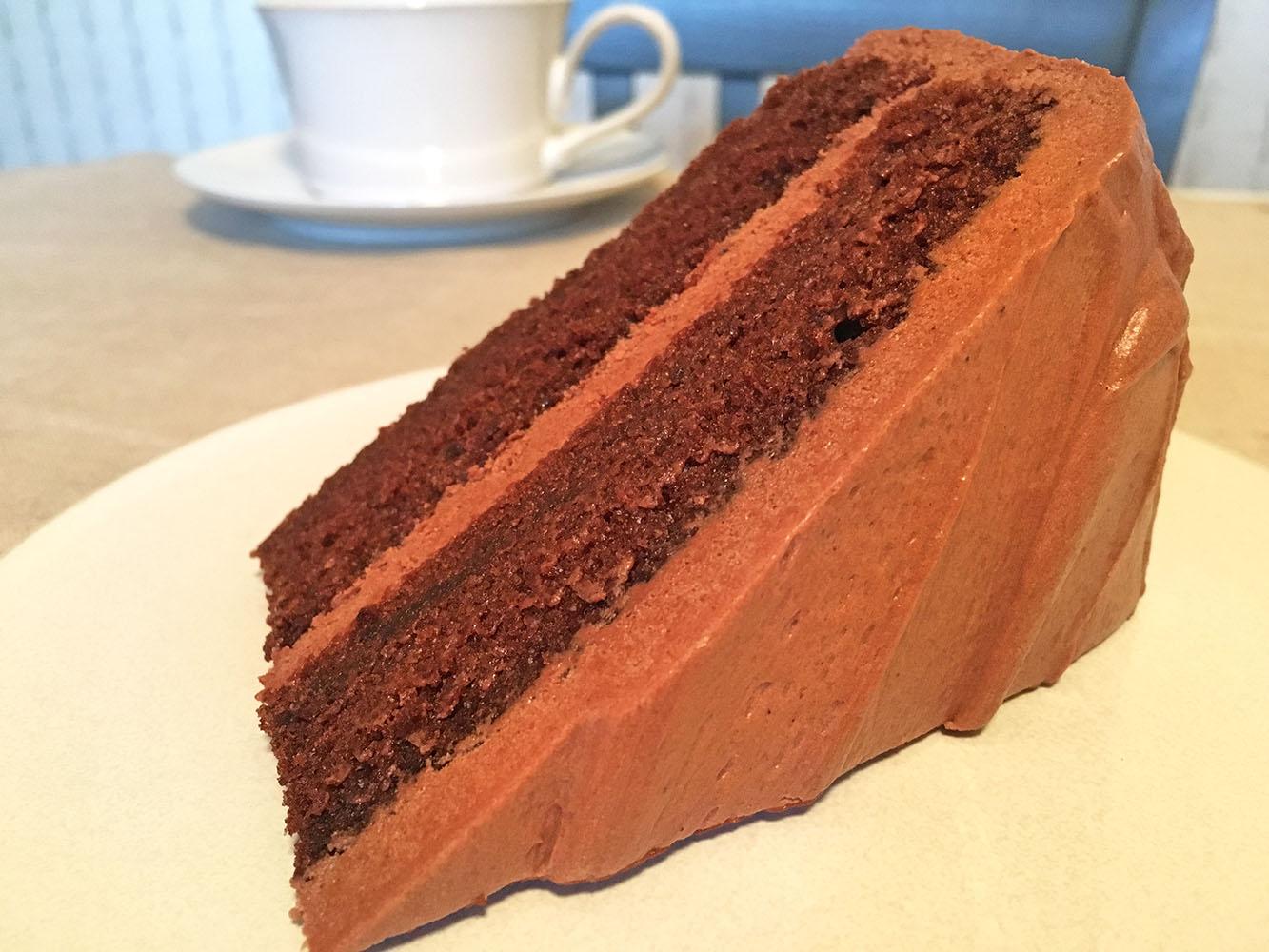 Chocolate Mayonnaise Cake Slice