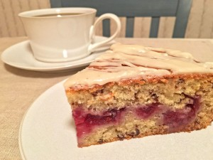 Cranberry Coffee Cake Slice