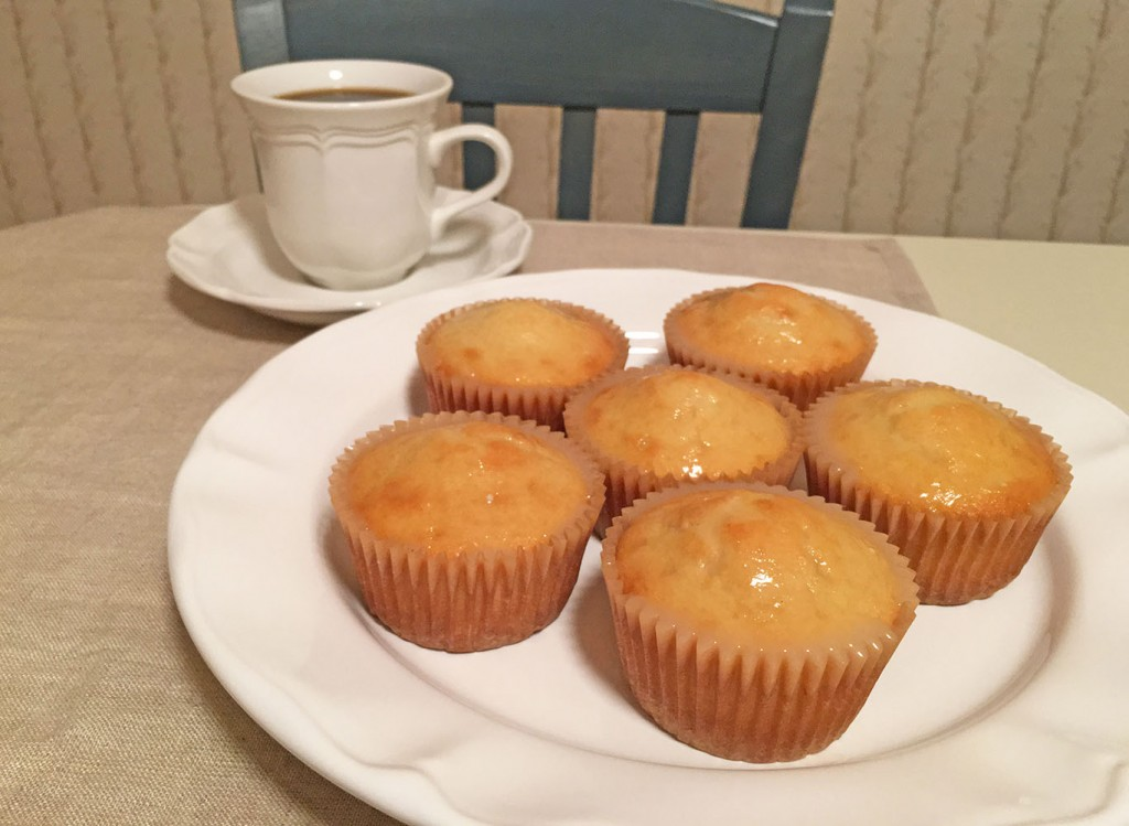 Lemon Muffins on Plate with Coffee