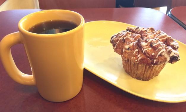 Panera Bread Cobblestone Muffin & Coffee
