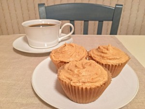 Peanut Butter Cupcakes with Coffee