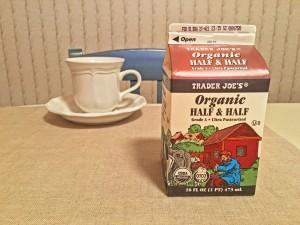 Trader Joes Organic Half and Half