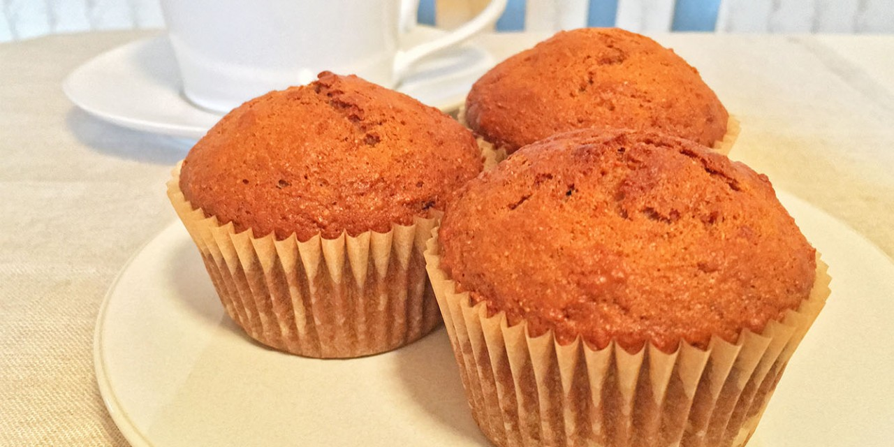 Agave-Sweetened Carrot Muffins