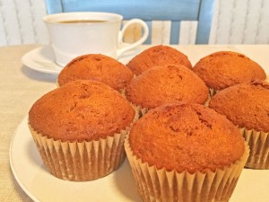 Agave-Sweetened Carrot Muffins with Coffee