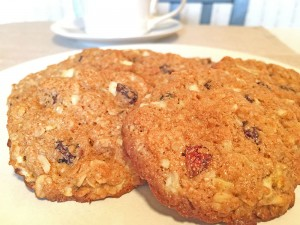 Apple-Oatmeal Cookies and Coffee