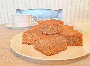 Chewy Peanut Butter Brownies with Coffee